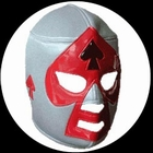 Lucha Libre Maske - Grey-Black-Red